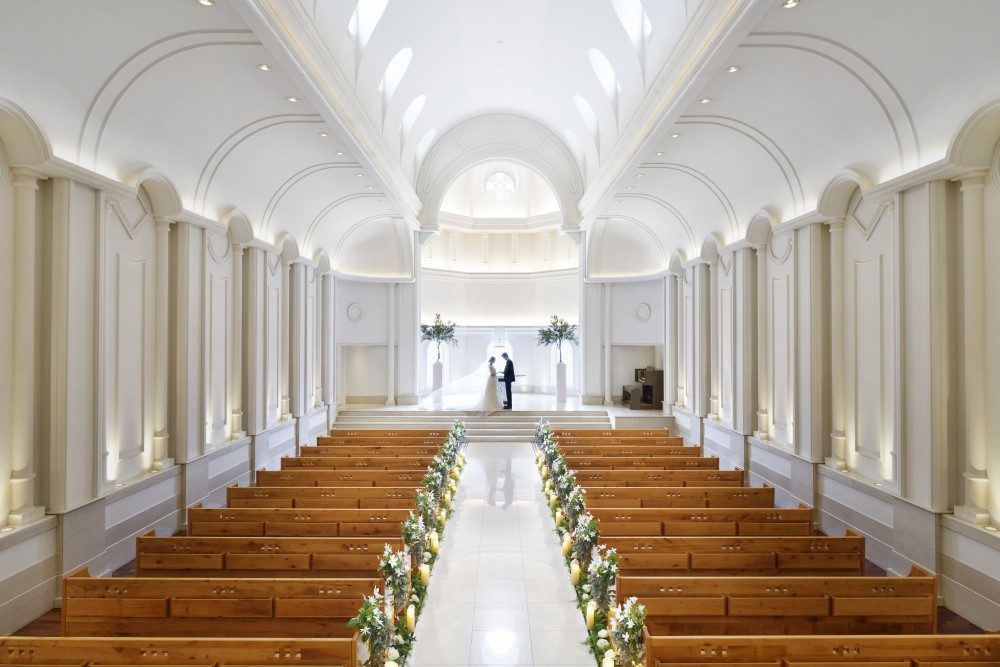 残席15時~のみ!【休日デートにオススメ♪】光溢れる白亜の大聖堂見学×演出体験フェア