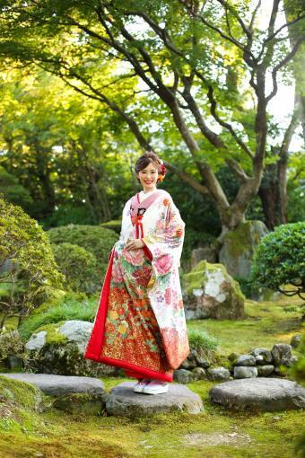 枝垂桜牡丹菊